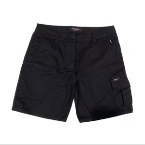 King Gee black utility work shorts cotton as new